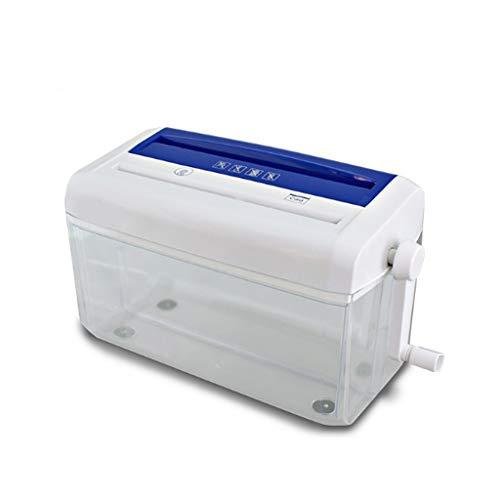Yanshangqi Tarjeta de Papel/crédito/CD Mini trituradora Manual Adecuado pequeñas oficinas y el hogar y desbrozadoras no eléctricas