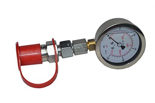 Hydrauliktester Manometer 250bar Druckprüfer Testgerät Stecker Hydraulikprüfgerät