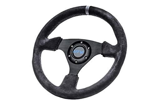 UTV INC 13' Suede 3 Spoke 6 Bolt Steering Wheel