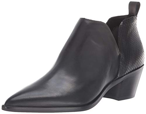 Dolce Vita Women's Sonni Ankle Boot, Black Leather, 7 M US