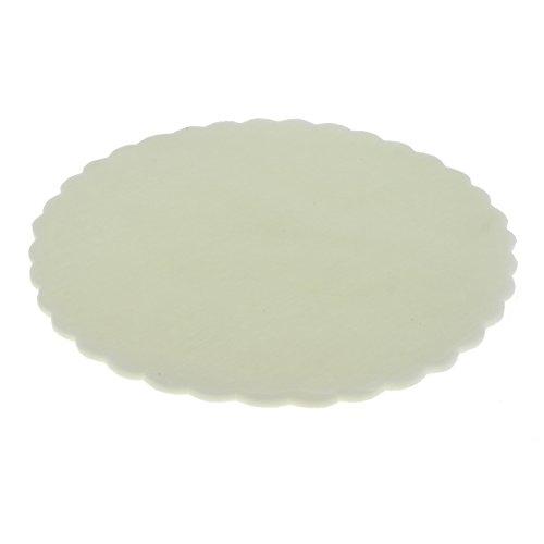ETM Organza handdoeken, rond, voor confect, feesten, geschenken, in verschillende kleuren, 50 stuks 68 cm crème-wit