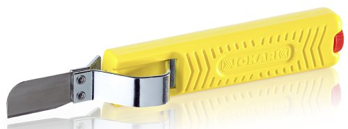 Jokari 10285 Standard Version Secura Cable Stripping Knife for All Standard Round Cables, No. 28G, 17cm L x 2.9cm W x 3cm H