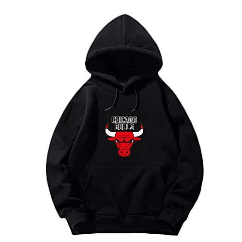 HYF Felpa con Cappuccio Manica Lunga da Allenamento per Uomo e Donna Basket Chicago Bulls