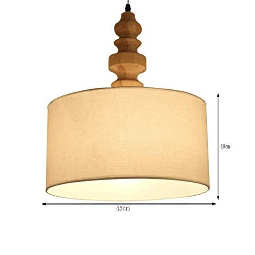 ZLININ Lámparas colgantes - Lámpara de araña de estilo nórdico moderna minimalista de madera de una sola cabeza (color: luz cálida)