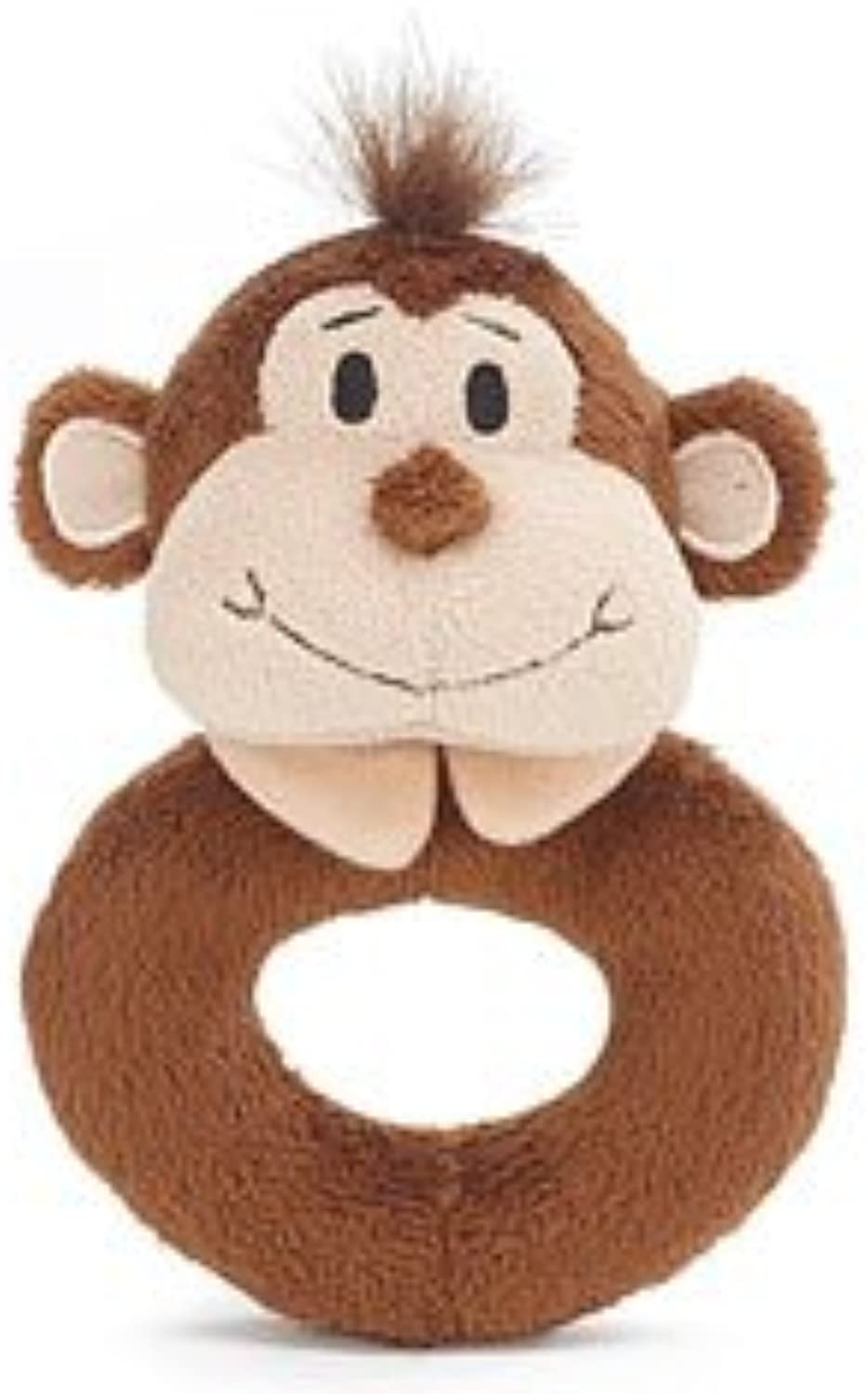 Little Freckles Monkey Donut Shaped Plush Rattle
