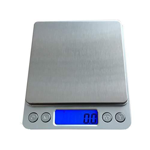 Muhwa Balance de cuisine numérique de haute précision avec écran LCD rétroéclairé 3 kg par palier de 0,1 g
