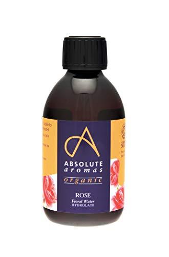 Absolute Aromas Eau de Rose Bulgare Certifiée Biologique 250ml - Tonique facial en spray pur, naturel, nourrissant et hydratant - convient à tous les types de peau