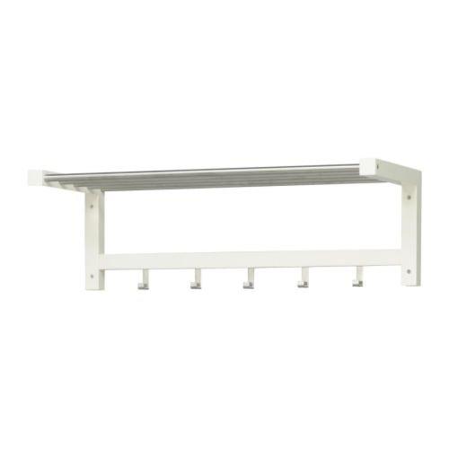 Ikea TJUSIG - Sombrero Estante, Blanco - 79 cm