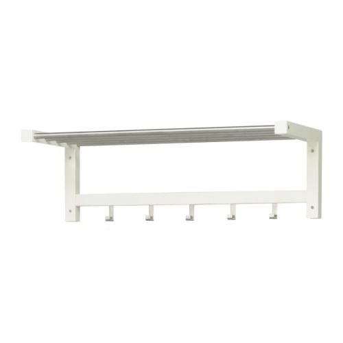 Ikea TJUSIG - Hat rack, white - 79 cm