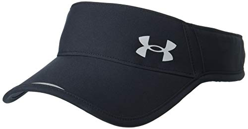Under Armour Men's Launch Run Visor , Black (001)/Reflective , One Size Fits Most