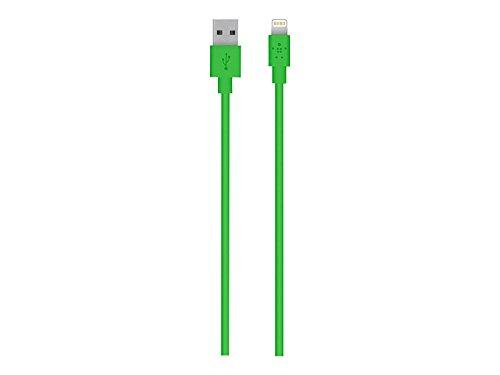 Belkin Mixit Lightning-/ USB-Ladekabel (geegnet für iPhoneXS, XSMax, XR, X, 8/8Plus und andere Geräte, 1,2m) grün