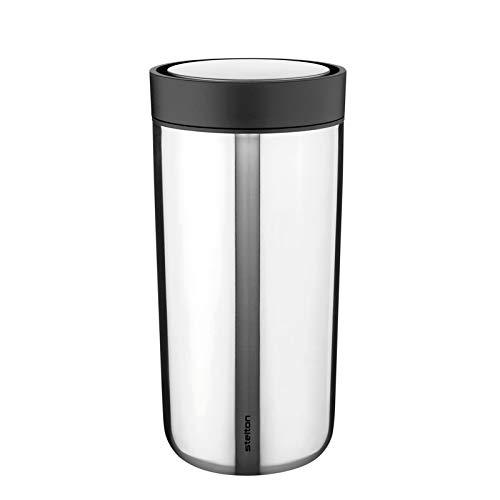 To Go Click Thermobecher 0,4L, edelstahl pulverbeschichtet doppelwandig H 17cm Ø 8,3cm smart-click Funktion 360° Position Innenwand Edelstahl