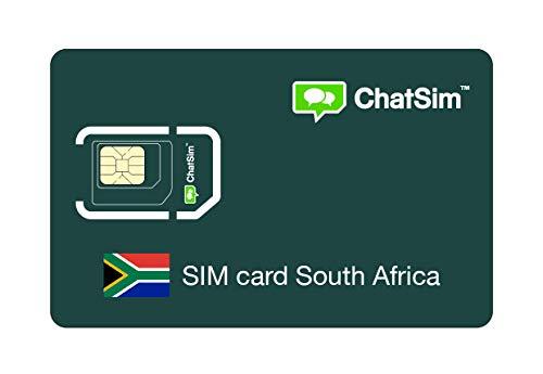 Internationale SIM-Karte für Reisen nach SÜDAFRIKA und rund um den Globus - ChatSim - Empfang in 165 Ländern, Roaming weltweit - Mehrfachanbieternetz GSM/2G/3G/4G, keine Fixkosten. 1GB für 30 Tage