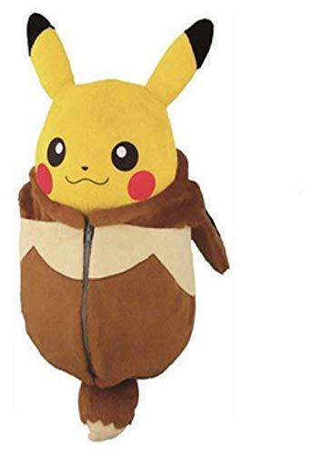 Weiche Spielzeug Nette Pikachu Puppe Plüschtier Pokemon Schlafsack Pikachu Puppe Umgewandelt in Ibrahimovic Halloween Geburtstagsgeschenk 22cm pokemon pikachu ZJSXIA
