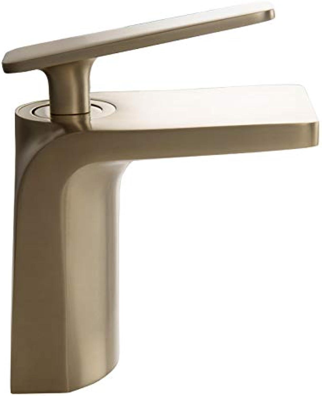 Kupfer becken wasserhahn wasserfall wasser waschbecken hei und kalt antik Gold wasserhahn set