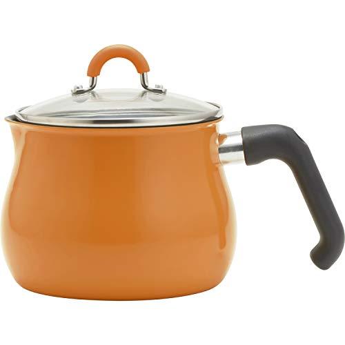 和平フレイズマルチポットMサイズ14cm2.2L(1~2人用)オレンジIH対応ご飯鍋ミルクパン揚げ鍋ふっ素樹脂加工トゥーメイToMay一人暮らし新生活RB-1856