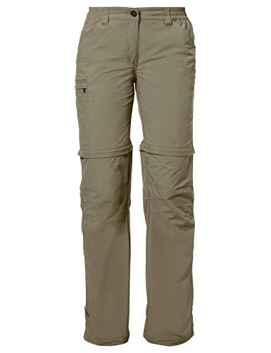 VAUDE Damen Hose Women's Farley Zip-Off Pants IV, abzippbare Wanderhose, muddy, 48, 038734740480