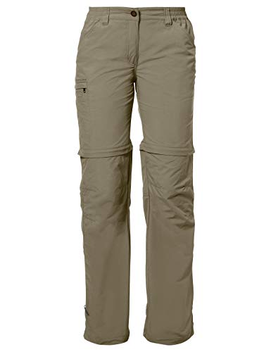 VAUDE Damen Hose Women's Farley ZO Pants IV, muddy, 38, 038734740380