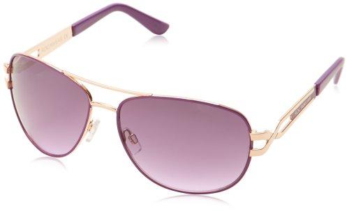Rocawear Women's R506 Aviator Sunglasses, Rose Gold/Purple, 64 mm