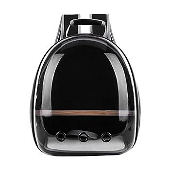 Sac à dos pour animal domestique - En tissu Oxford transparent - Portable et confortable - Pour le transport et le transport - Noir