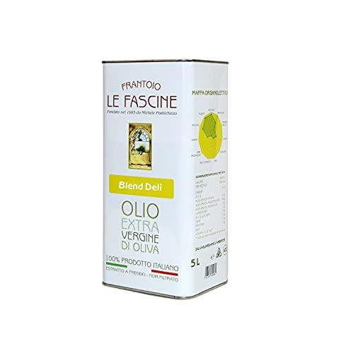 Le Fascine Delicato - Huile d olive extra vierge 100% italienne DELICATE Pugliese extraite à froid 100% produite à partir d olives provençales Ogliarola et Leccino (boîte de 5 litres)