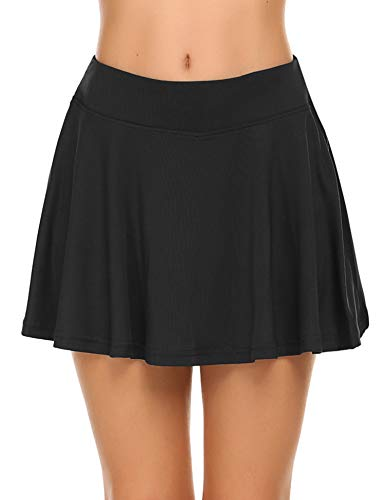 Ekouaer Sports Skirts with Pockets for Girls Soft Breathable Shorts Running Skorts XL