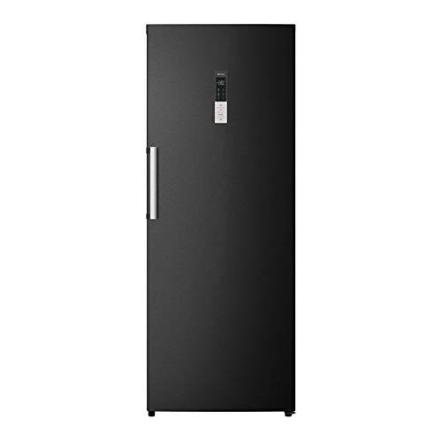 CHiQ congélateur armoireFSD380NEI42 380L noir Acier inoxydable, portes réversibles, A++, 39 db, 12 ans de garantie sur le compresseur