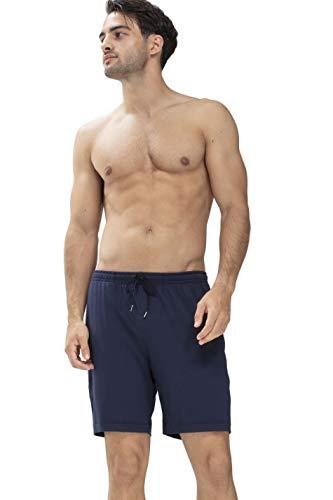 Mey Loungewear Serie Jefferson Modal Herren Homewear Hosen Blau S