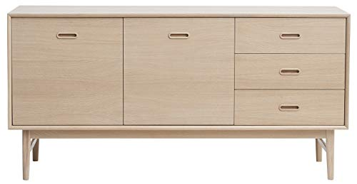 24Designs Dressoir Herborg 2 Deurs/3 Laden - 160x45x80 - Eiken White Wash