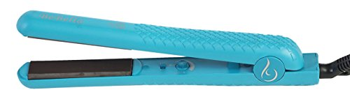 """Bebella Color Collection Professional Salon Pure Onyx Ceramic Plates Hair Straightener Flat Iron, 1.25"""" W, Teal Blue"""