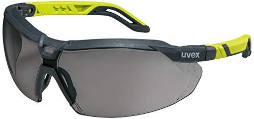Uvex i-5 - Schutzbrille für Arbeit & Labor - Getönt/Anthrazit-Lime