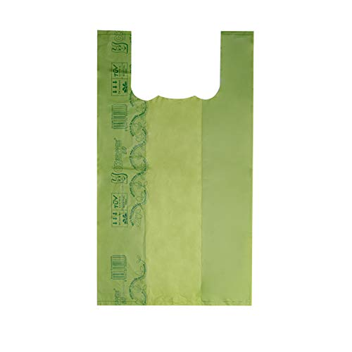VIRSUS Scatolo da 4kg Circa 250 Buste Shopper biodegradabili compostabili Maxi a Norma 2018 f.to 30x55 30+10+10x55