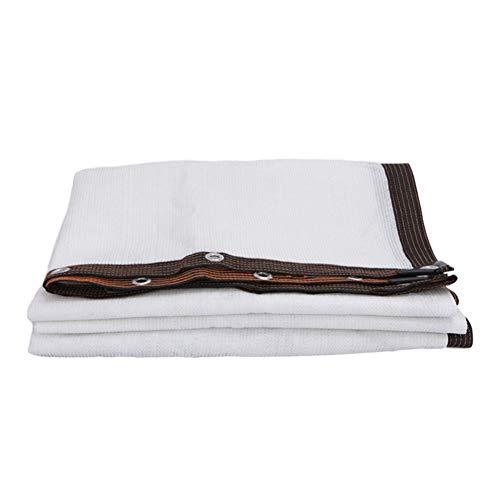 Schattiernetz Perfekt Sunblock Schatten Tuch mit Tüllen 85% Weiß for Pflanzendecke Gewächshaus Barn Kennel Pool Pergola oder Pool (Color : White, Size : 3x3m)