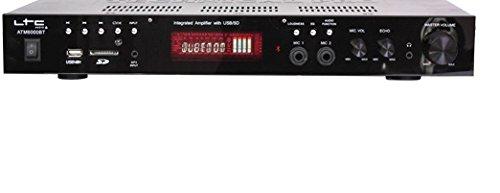 LTC Audio ATM6000BT - Amplificador HiFi Bluetooth Karaoke, Color Negro Piano