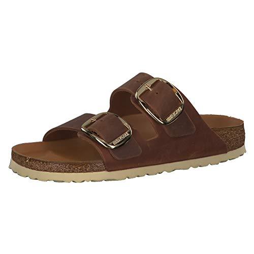 Birkenstock Arizona Big Buckle Mules/Clogs Women Brown - 9.5 - Mules Shoes