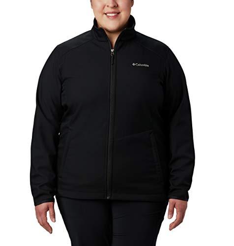 Columbia Women's Plus Size Kruser Ridge Ii Softshell, Black, 1X