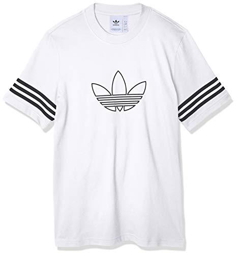 adidas Originals Outline tee Camiseta de Manga Corta, Hombre, Blanco (White), M