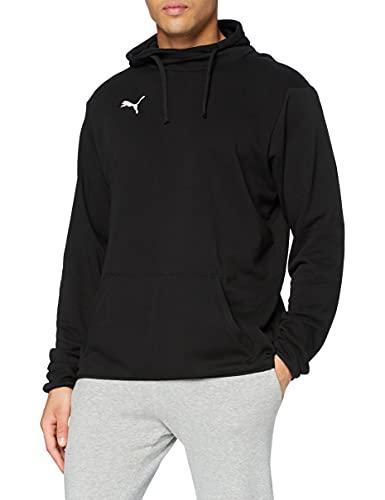 PUMA Herren, LIGA Casuals Hoody Sweatshirt, Black-White, XL