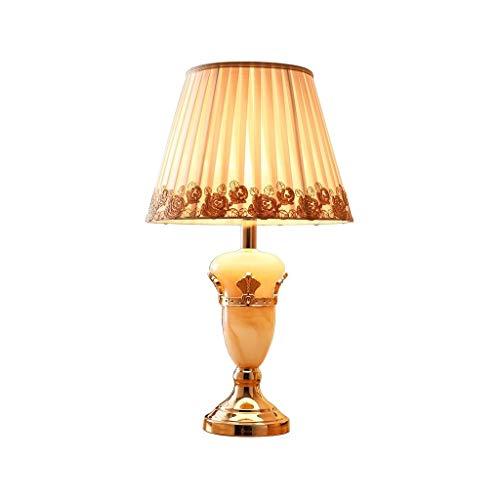 SHUTING2020 lámpara de Mesa Lámpara de Mesa de mármol Europea Sala de Estar Dormitorio Lámpara de mesita de Noche Lámpara Noche (Color : B, Size : Dimmer Switch)