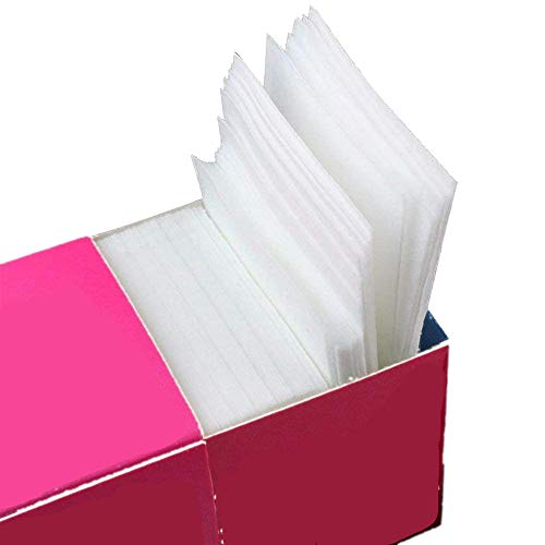 Fliyeong Stockton Square Cotton Cellulose zur Reinigung von Nägeln Einweg-Baumwoll-Reinigungspad für Nagellack Nail Art 325 Blätter