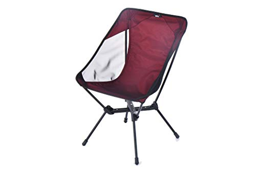 DESERT WALKER Camping Chair Lightweight Compact Folding Camping Backpack Chairs(red)