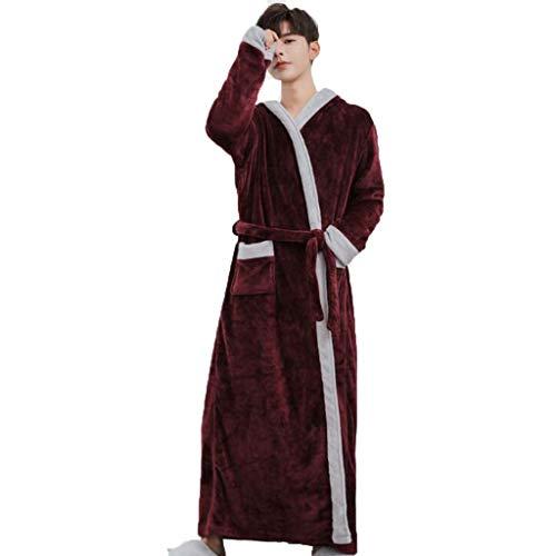 DAFREW Pijama grueso de manga larga, de color sólido...