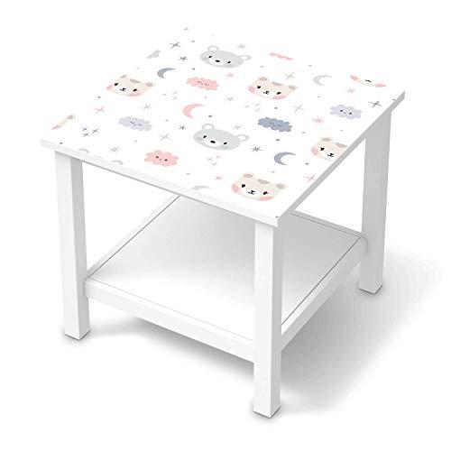 Möbel-Folie für Kinder - passend für IKEA Hemnes Beistelltisch 55x55 cm I Tolle Möbelfolie für Kinder-Möbel Deko I Design: Sweet Dreams