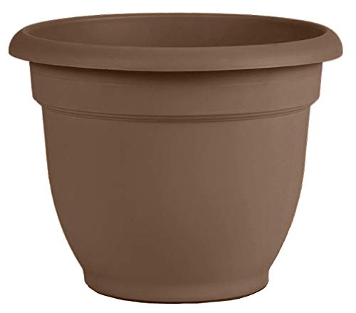 Bloem 20-56308CH Ariana Self Watering Planter, 8', Chocolate, 8', Browns