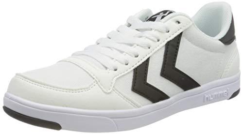 hummel Unisex Stadil Light Canvas Sneaker, White, 40 EU