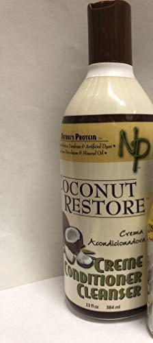 Nature's Protein Coconut Restore Creme Conditioner Cleanser 13 oz