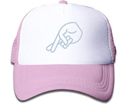 asdew987 Girls Caps-Lying Fingers Cotton Baseball Mesh Cap Snapback Trucker Hat