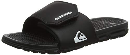 Quiksilver Shoreline Adjust-Sandals for Men, Sandalias con Punta Abierta Hombre, Negro (Black/White/Black Xkwk), 39 EU
