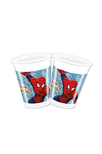 Folat B.V. Procos 85153 Ultimate Spider Man Web Warriors - Gafas de Plástico (200 Ml, 8 Unidades) Color Rojo / Azul