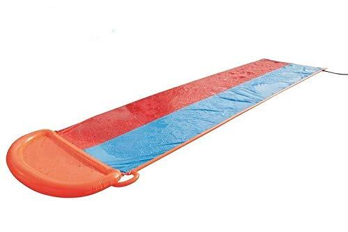 Home Wang Doble Tobogán De Agua Toy 2-Lane-Slider Racing con Un Amigo Soft Landing Smooth & Fast Ride 5.49M